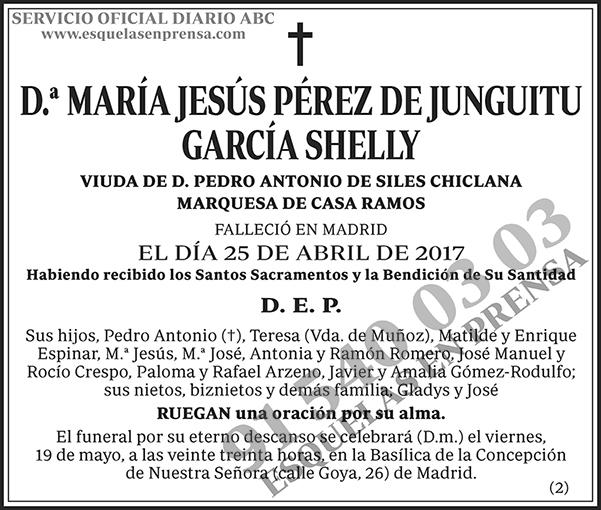 María Jesús Pérez de Junguitu García Shelly